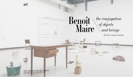 "FEATURE Benoît Maire in L'Insolent Magazine : ""the conjugation of objects and beings"""